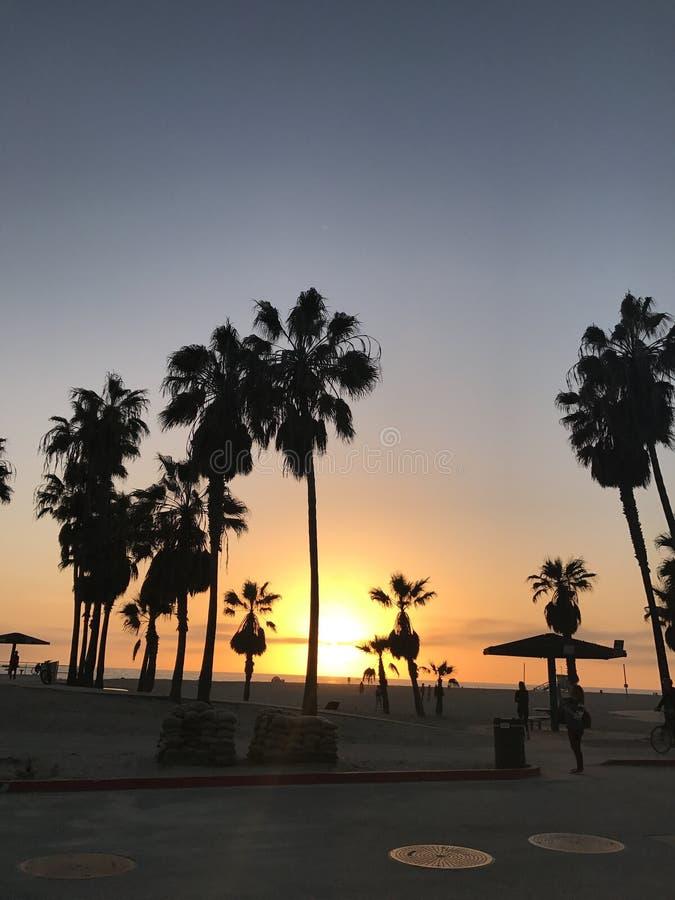 plage la Californie Venise image stock