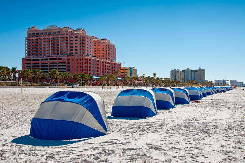 Plage la Floride de Clearwate photo stock