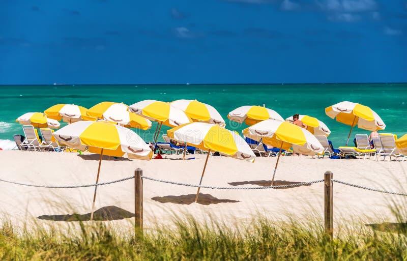 plage la Floride Miami du sud images libres de droits