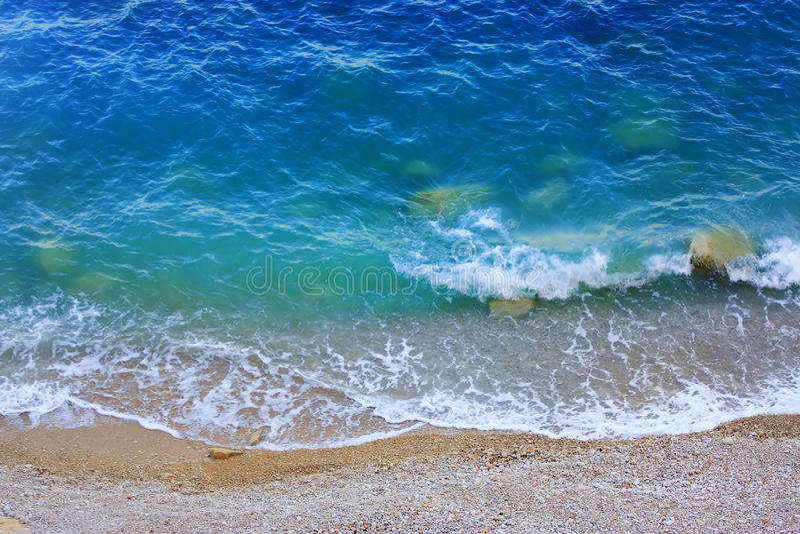 plage méditerranéenne image stock