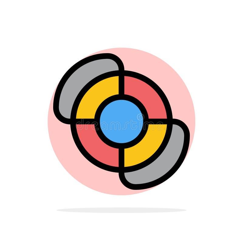 Plage, maître nageur, icône plate de couleur de fond abstrait de cercle d'été illustration libre de droits