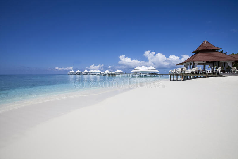 plage Maldives photographie stock libre de droits