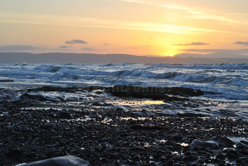 Plage occidentale de Nairn Ecosse photo libre de droits