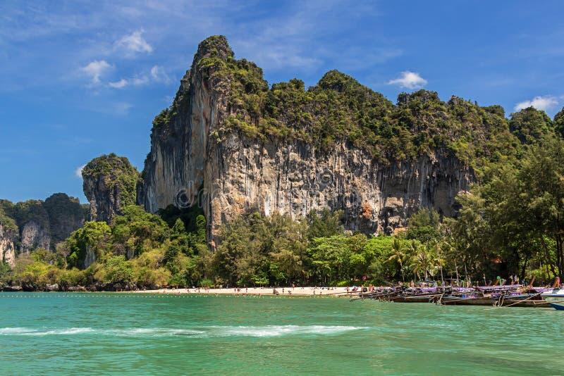 Plage occidentale de Railay dans la province de Krabi de Thailad photo stock
