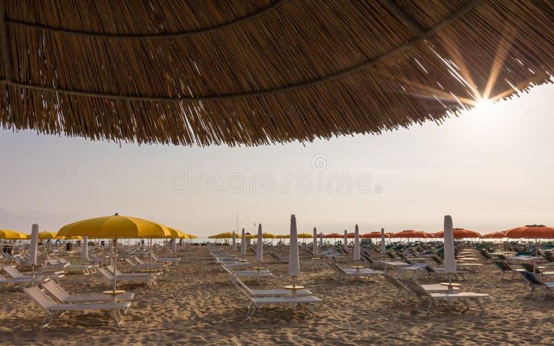 Download Plage pendant le matin photo stock. Image du sunbathing - 77154438