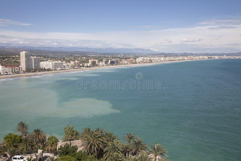 Plage Peniscola, Castellon, Espagne image stock