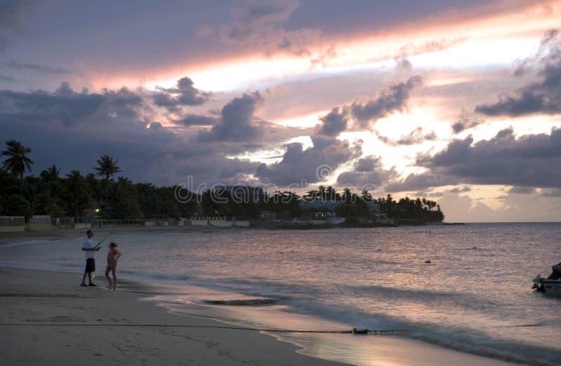 Plage Porto Rico de Dorado photo libre de droits