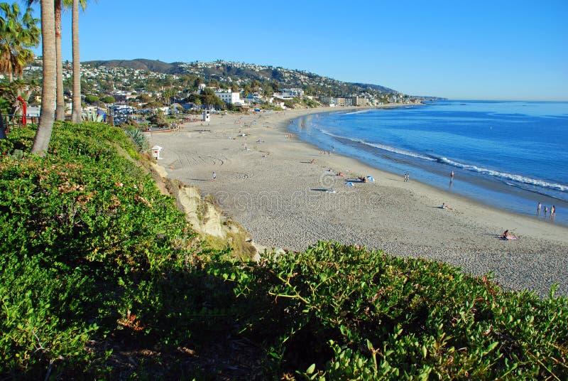 Plage principale en novembre au Laguna Beach, CA image libre de droits