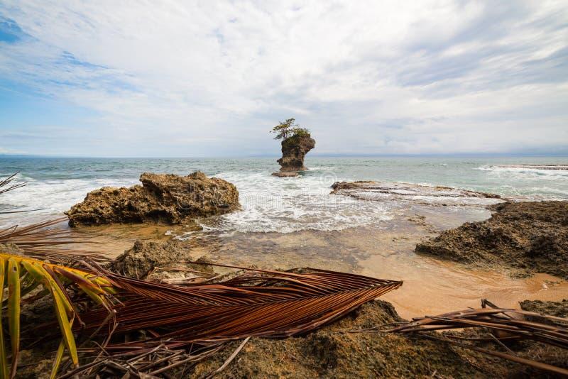 Plage rocheuse à Manzanillo Costa Rica images stock
