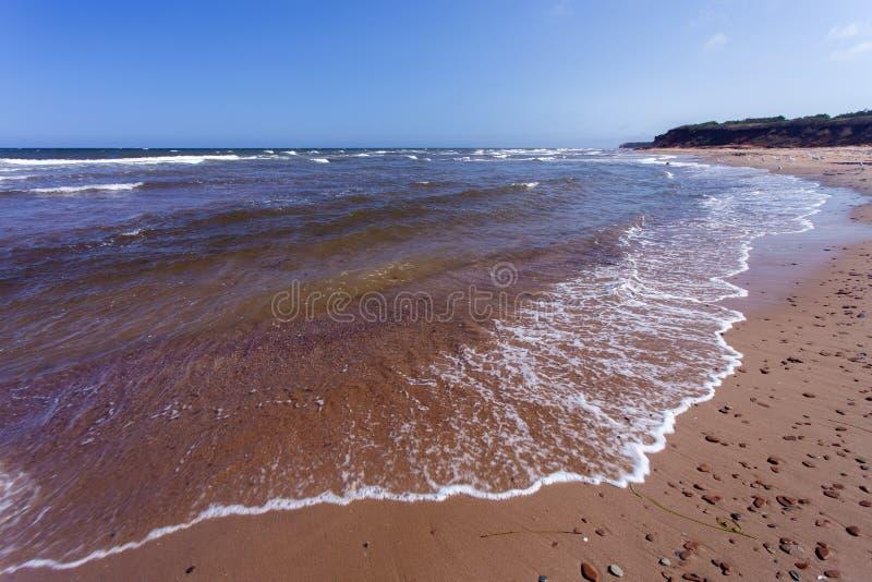 Plage rouge de sable, prince Edward Island photo libre de droits