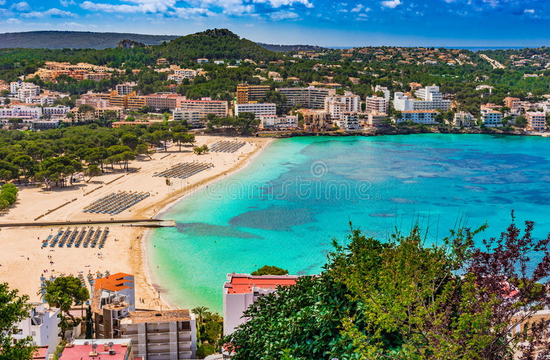 Plage Santa Ponsa de l'Espagne Majorca image stock