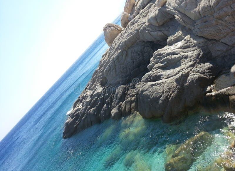Plage Seychelles d'Ikaria images libres de droits