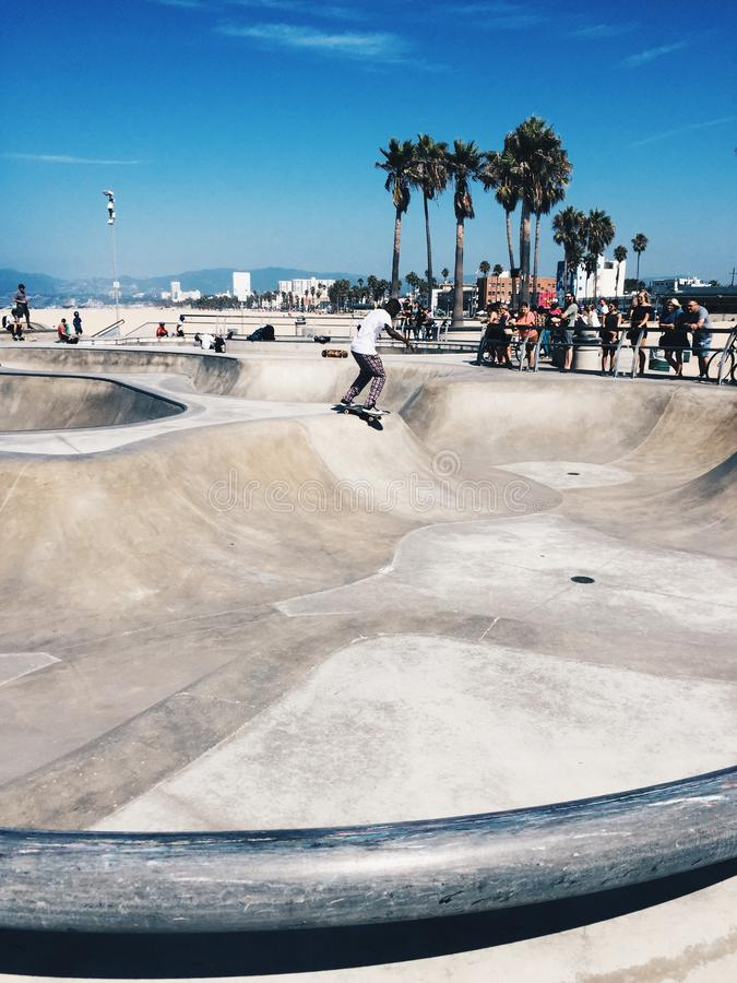 Plage Skatepark de Venise photo stock