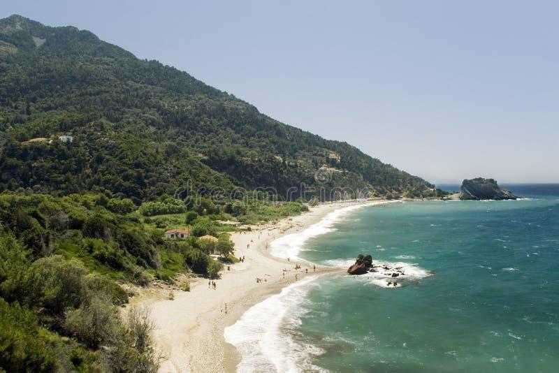 Plage sur l'île de Samos image stock