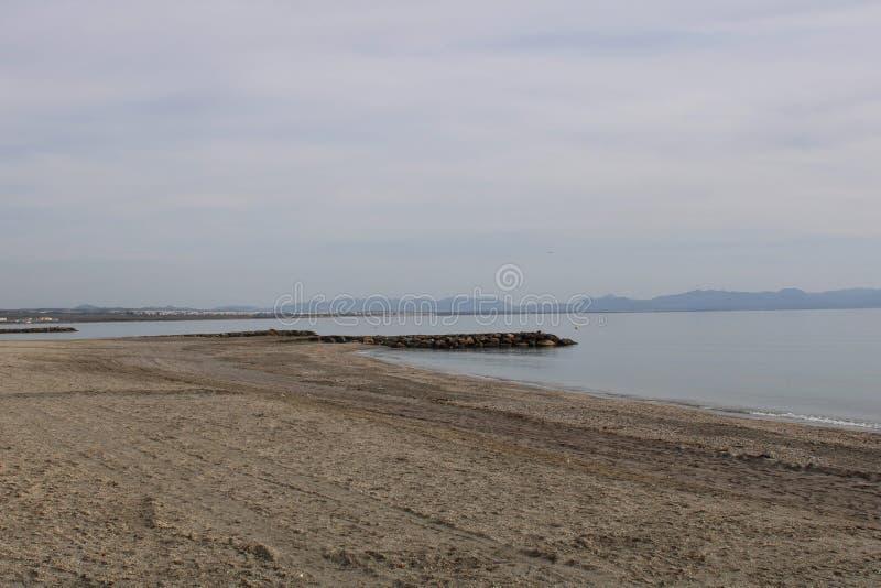 Plage sur la côte de l'Espagne photo stock