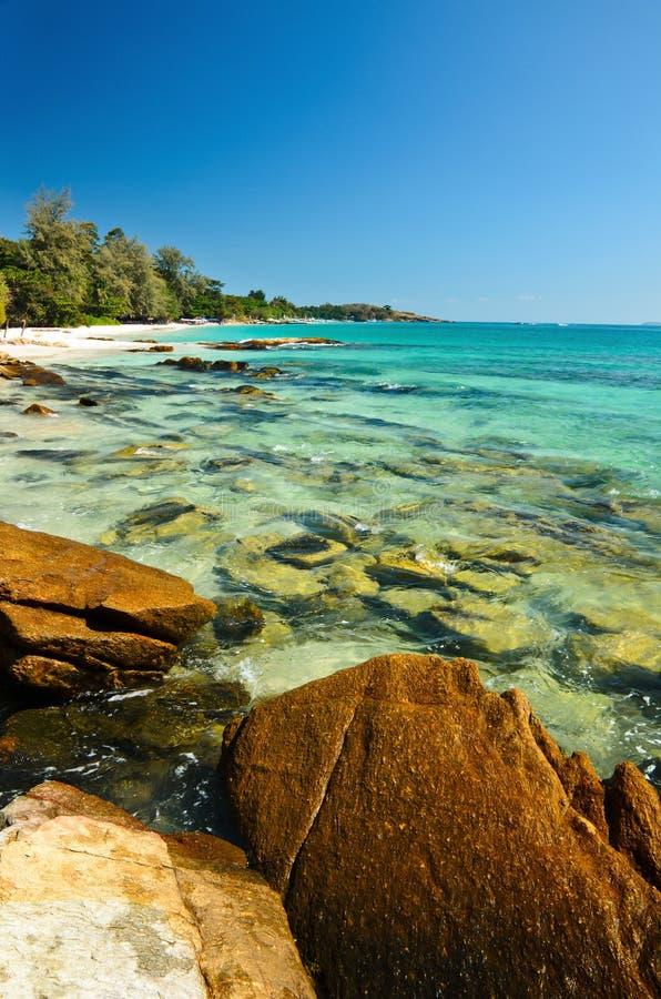 Plage tropicale, île de samet photographie stock libre de droits