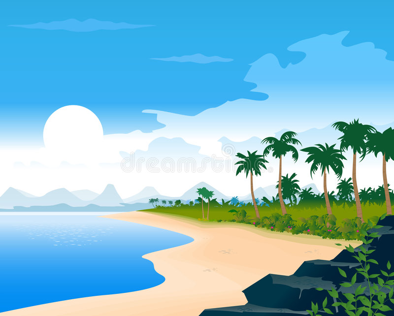 plage tropicale illustration stock