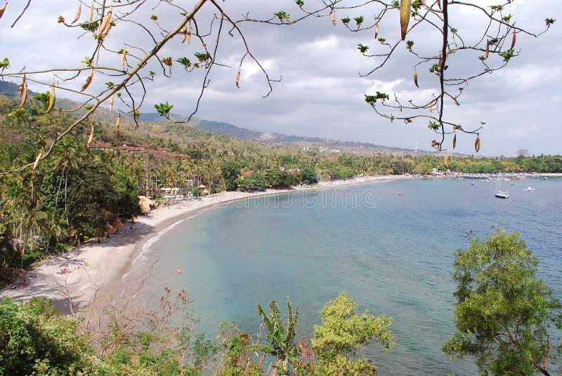 Plage tropicale de Lombok photographie stock libre de droits