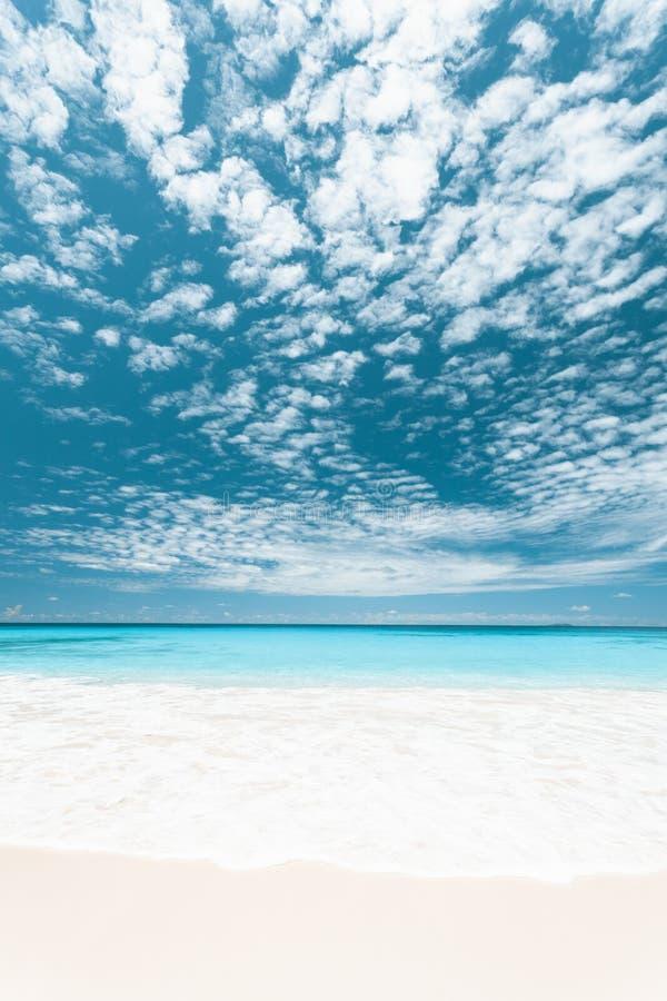 Plage tropicale en Seychelles photographie stock libre de droits