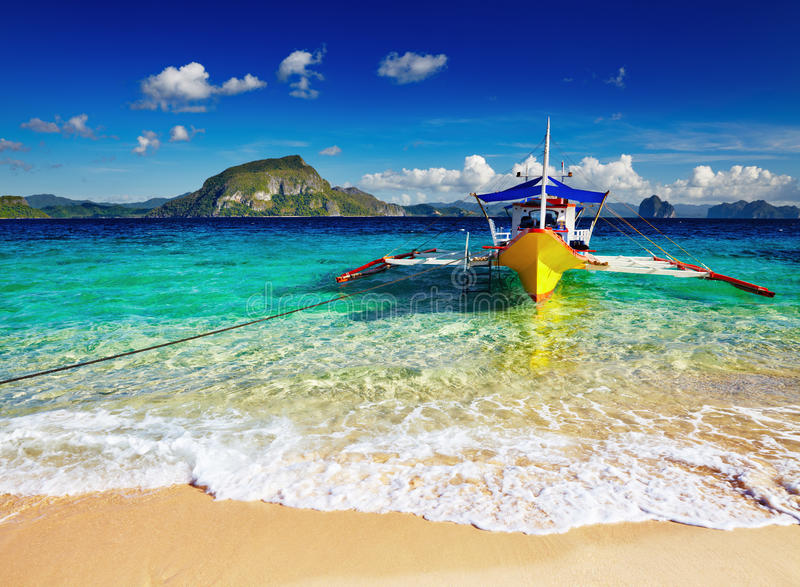 Plage tropicale, Philippines image stock