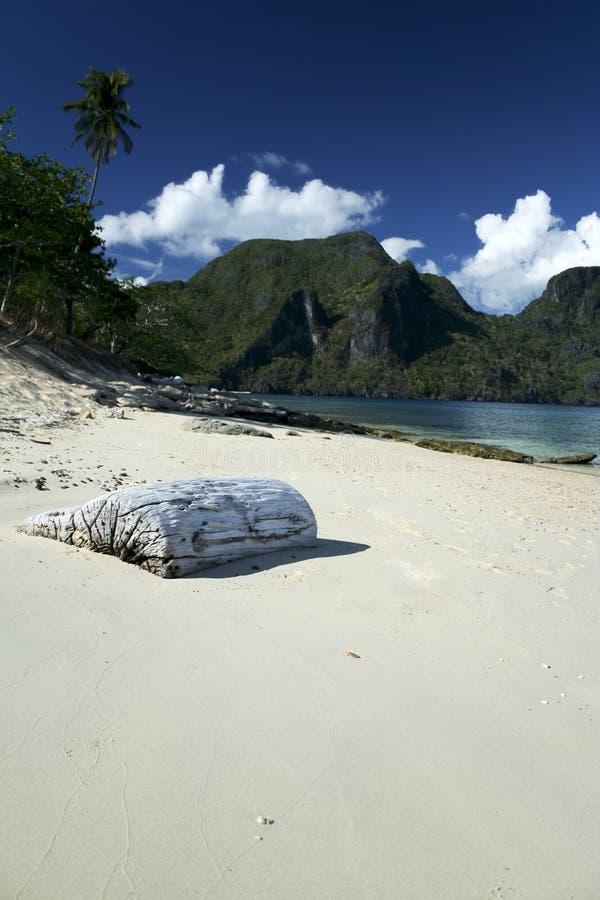 Plage tropicale Philippines palawan de nido d'EL photographie stock