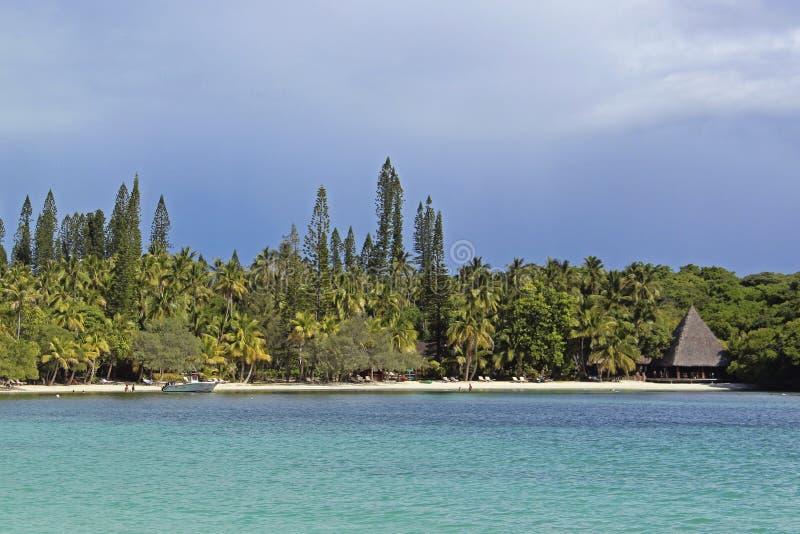 Plage tropicale sur l'île des pins, Nouvelle-Calédonie photographie stock