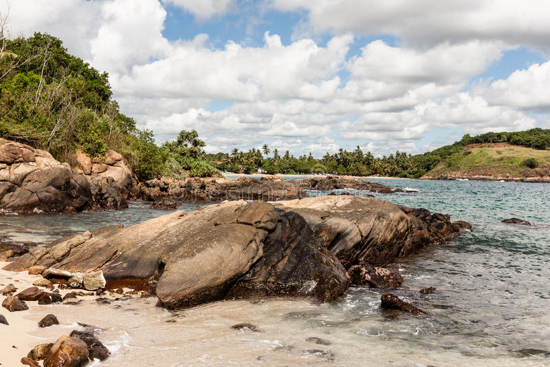 Plage tropicale sur le Sri Lanka photo stock