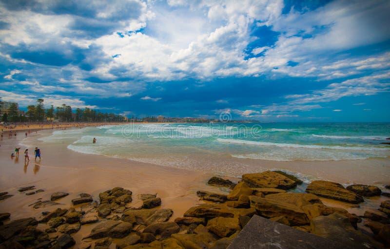Plage virile, Sydney, NSW, Australie photographie stock libre de droits