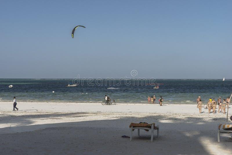 plage Zanzibar tropicale photographie stock libre de droits