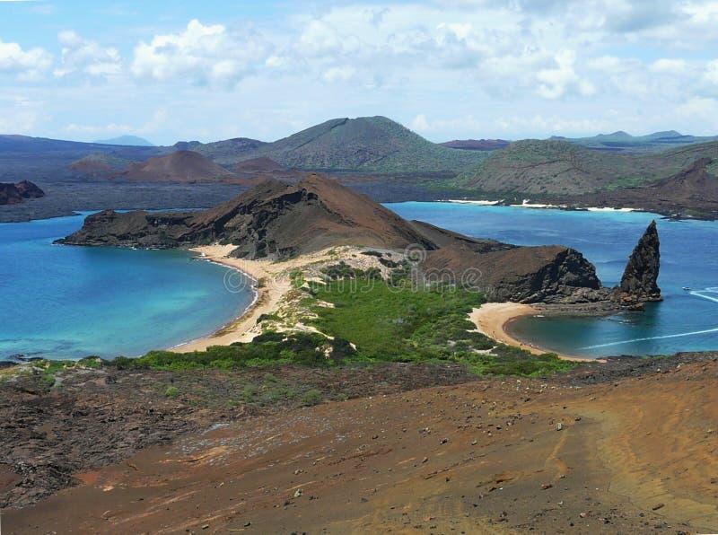 Plages d'île de Bartolome, archipel de Galapagos, Equateur images libres de droits