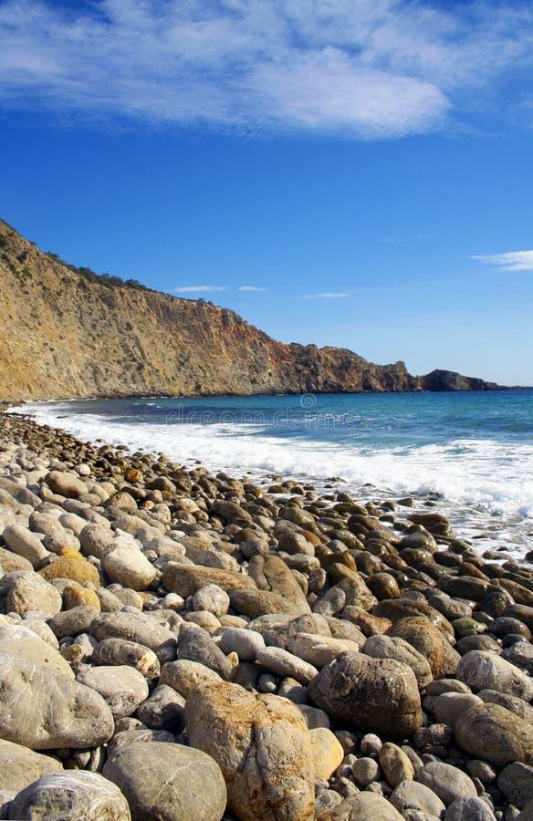 Plages d'Ibiza Serie photos libres de droits
