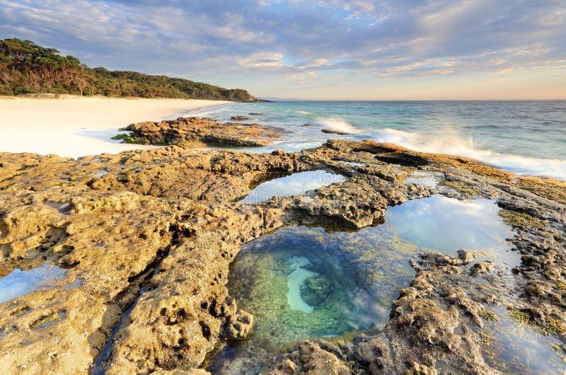 plages de /beautiful de Jervis Bay images libres de droits
