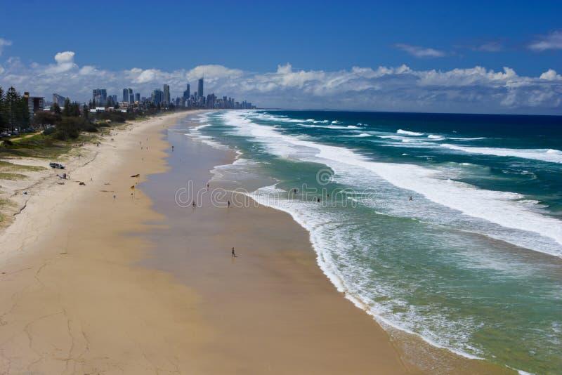 Plages de Gold Coast photos libres de droits