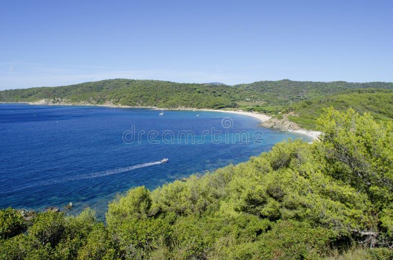 Plages de la Côte d'Azur, près de vers St Tropez image stock