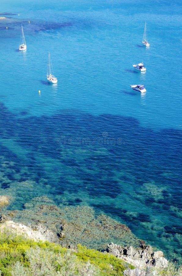 Plages de la Côte d'Azur, près de vers St Tropez images libres de droits