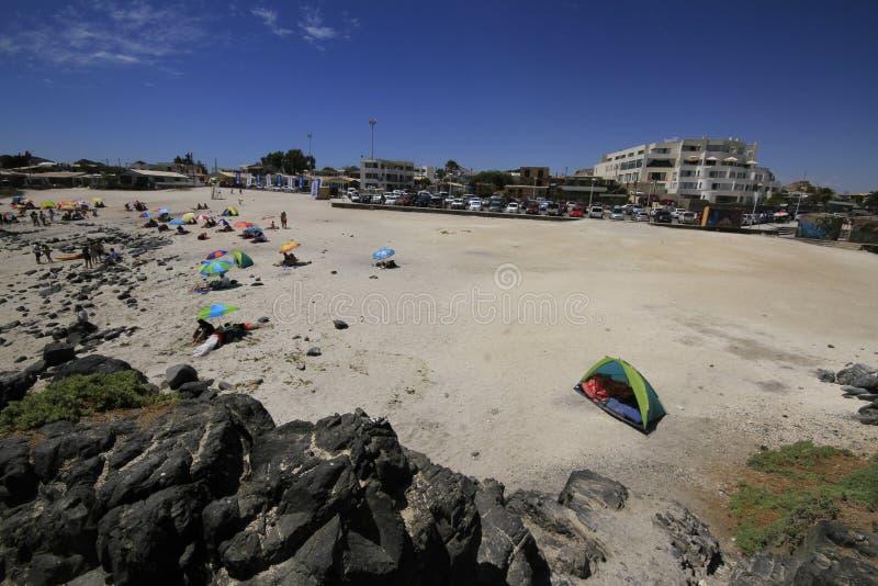 Plages et port près de Bahia Inglesia, caldeira, Chili images stock
