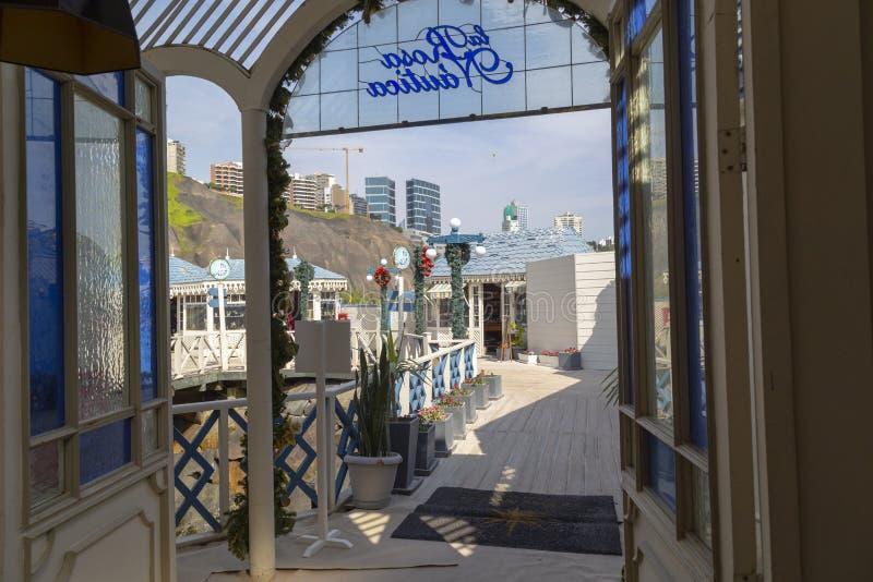 Plages, vue panoramique de Lima de Miraflores, Pérou image libre de droits