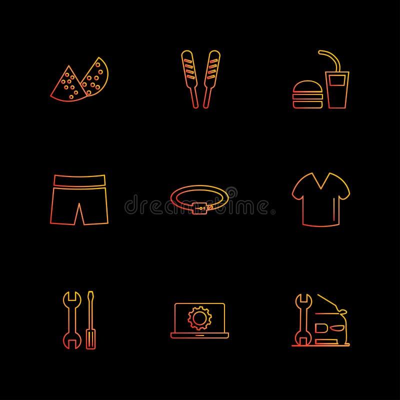 plagg torkdukar, kläder, klänningen, eps-symboler ställde in vektorn vektor illustrationer
