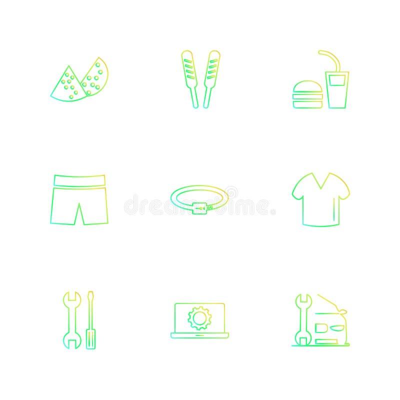 plagg torkdukar, kläder, klänningen, eps-symboler ställde in vektorn stock illustrationer