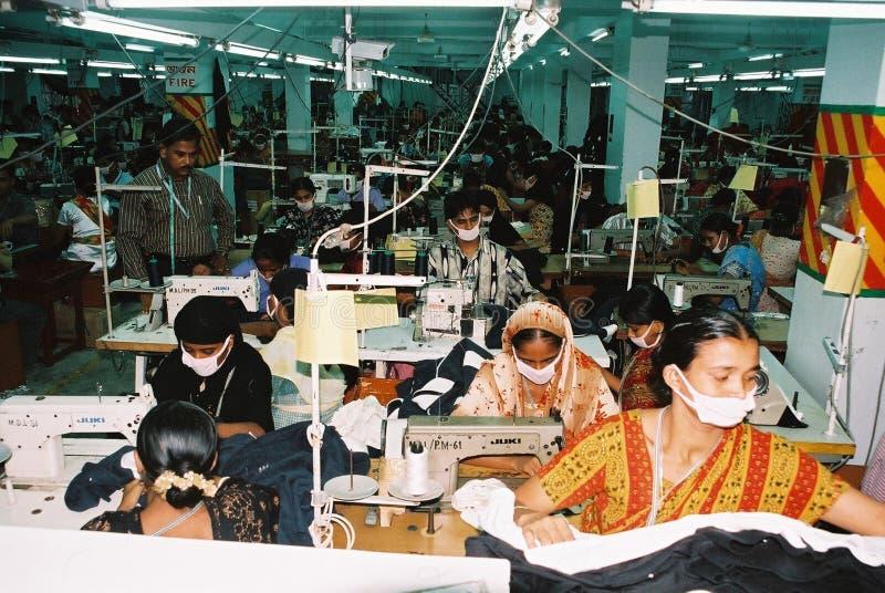 Plaggbransch i Bangladesh royaltyfri bild