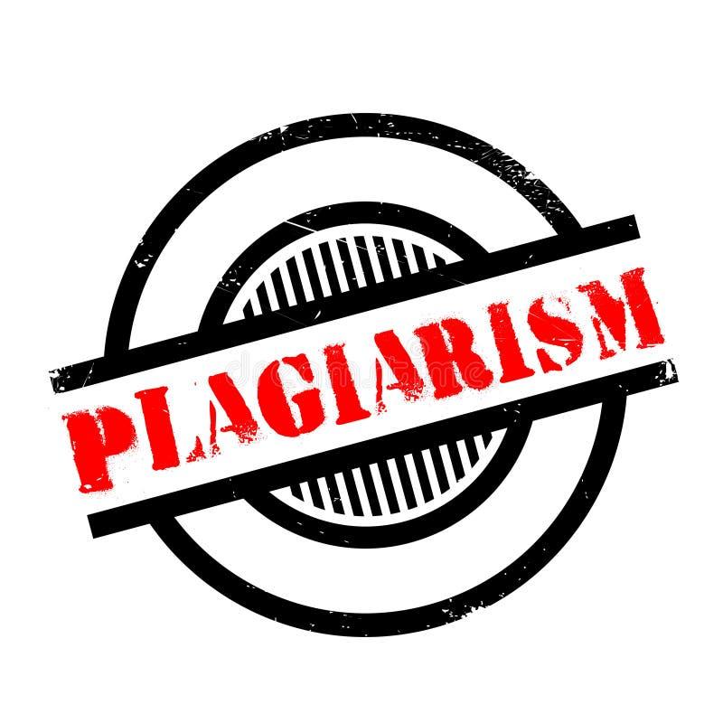 Plagiaat rubberzegel stock illustratie
