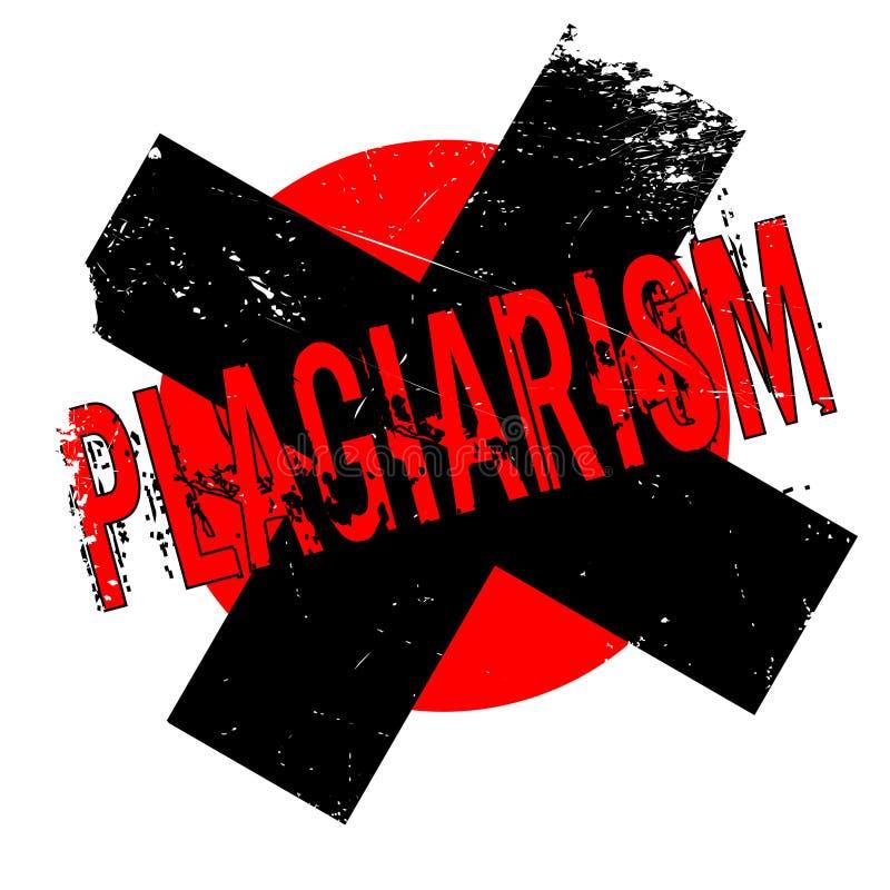 Plagiarism rubber stamp stock illustration