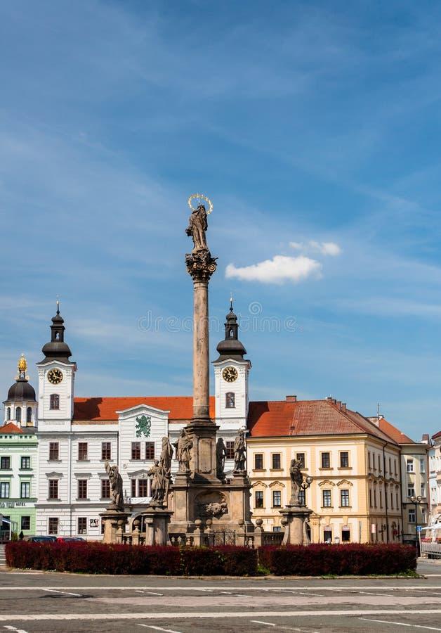 Plague column, Hradec Kralove, Czech Republic. Plague column in Hradec Kralove, Czech Republic royalty free stock photos