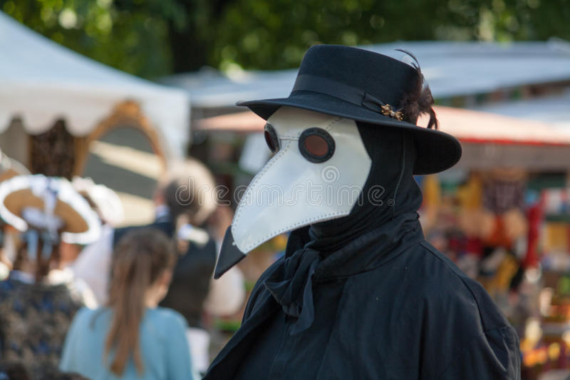 Plague Doctor. A Plague Doctor walking around stock images