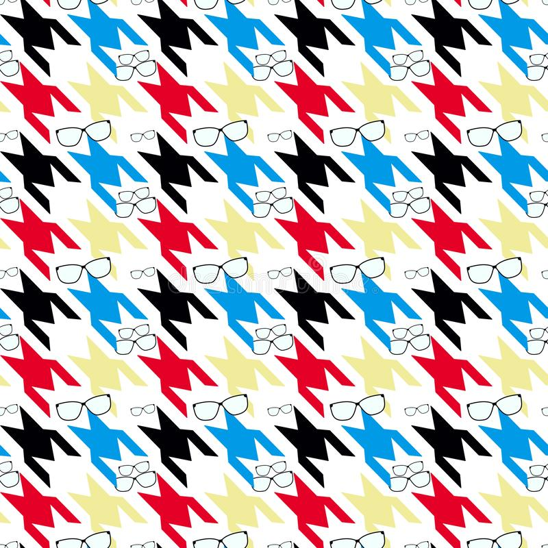 Plaid checkered,dog tooth pattern. colorful Hounds-tooth seamless. Classical English background Glen plaid Glenurquhart check for vector illustration