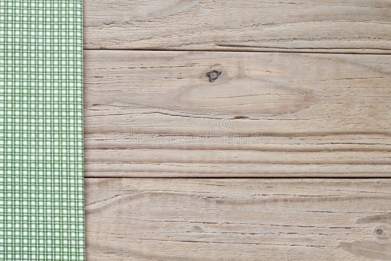 Plaid di legno e verde fotografia stock libera da diritti