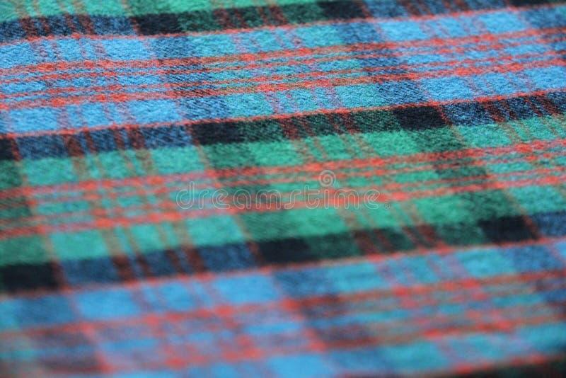 Plaid di tartan scozzese fotografia stock libera da diritti