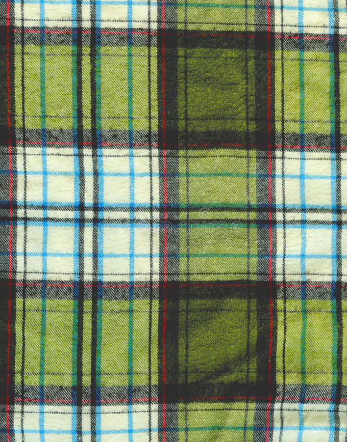 Plaid fabric texture background. Natural cotton fabric texture background royalty free stock images