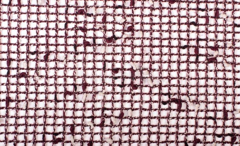 Plaid fabric on a white