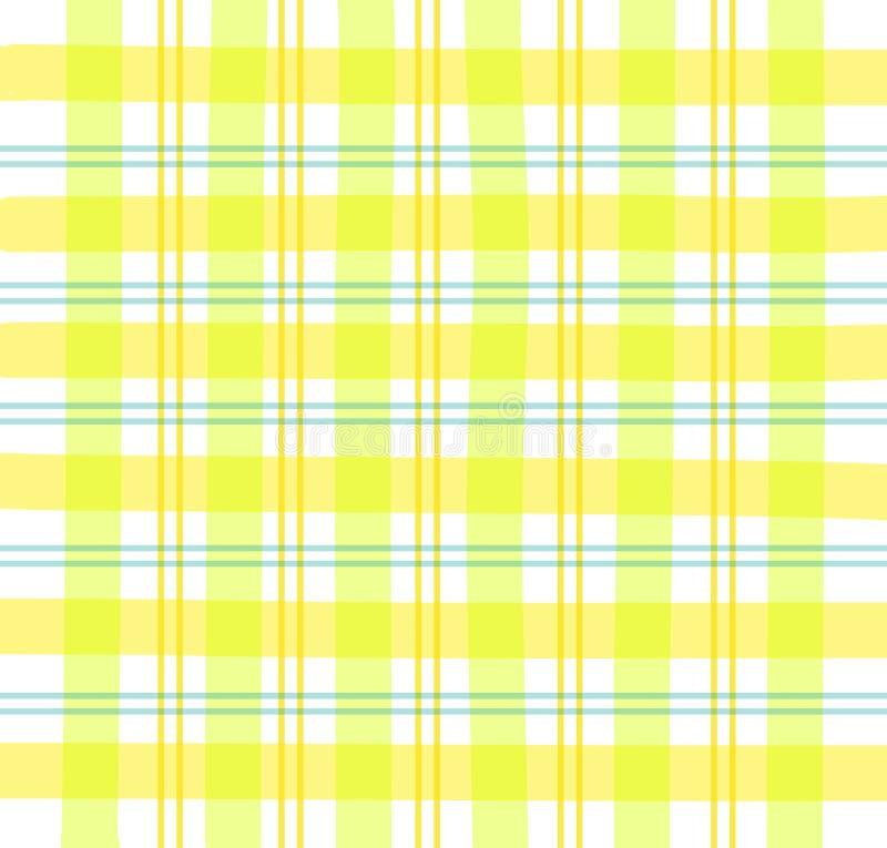 Plaid giallo del percalle royalty illustrazione gratis
